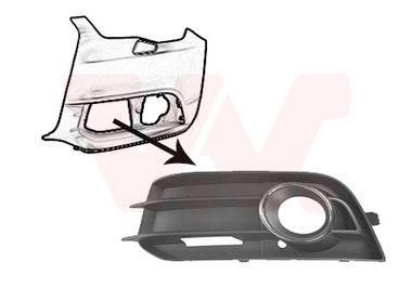 Luchtgrille onder links + mistlamp Audi A1 (8X)