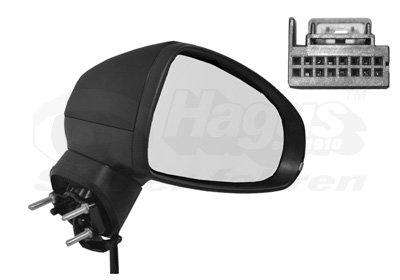 Buitenspiegel elektrisch verstelbaar rechts   verwarmd/zwart 8Pi   elektr. Inklapbaar Audi A1 (8X)