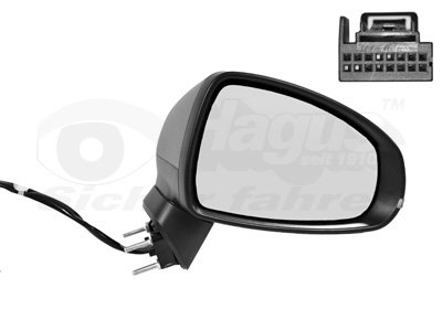 Buitenspiegel elektrisch verstelbaar rechts   verwarmd/primer 8Pi   elektr. Inklapbaar Audi A1 (8X)